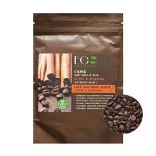 EcoLab Скраб для лица и тела антиоксидант Кофе и корица 40 г