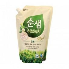 KeraSys Средство Запаска для мытья посуды СУНСЭМ зеленый чай Soonsaem Green Tea 1200 мл
