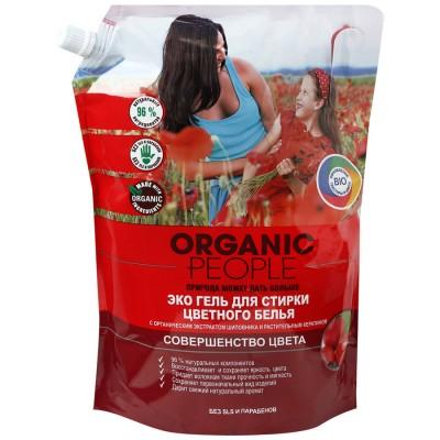 Organic People Эко гель для стирки цветного белья (дой-пак) 2000 мл