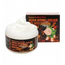 Elizavecca Паровой увлажняющий крем с маслом арганы Milky Piggy Aqua Rising Argan Gelato Steam Cream