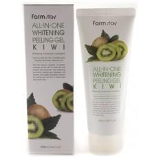FarmStay Пилинг-гель отбеливающий киви All-In-One Whitening Peeling Gel Kiwi 180 мл