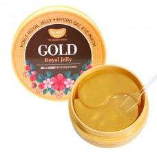 Petitfee Koelf Гидрогелевые патчи коллоидным золотом и маточным молочком Gold & Royal Jelly Hydrogel Eye