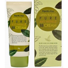 FarmStay BB крем разглаживающий Green Tea Seed Pure Anti-Wrinkle BB Cream 40 гр (зеленый чай)
