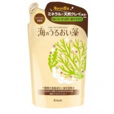 Kracie Бальзам ополаскиватель ЗАПАСКА для кожи головы и волос с экстрактами морских водорослей 400 мл