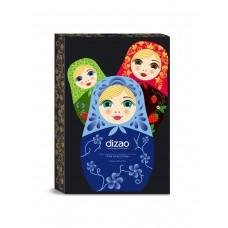 Dizao Подарочный набор масок для лица, шеи и век Три Красотки: очищение, увлажнение, лифтинг 3шт