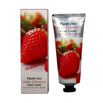 FarmStay Крем для рук клубника Visible Difference Hand Cream 100 мл