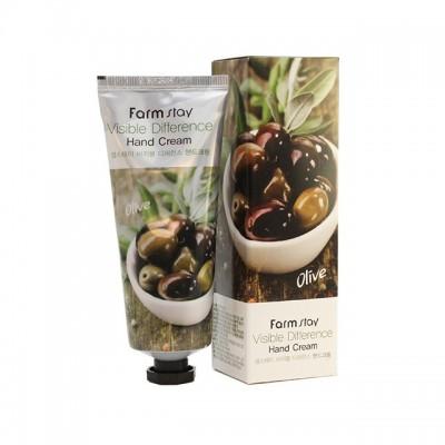 FarmStay Крем для рук олива Visible Difference Hand Cream 100 мл