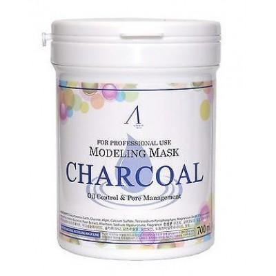 Альгинатная маска с древесным углем Anskin Modeling Mask Charcoal Oil Control & Pore Management