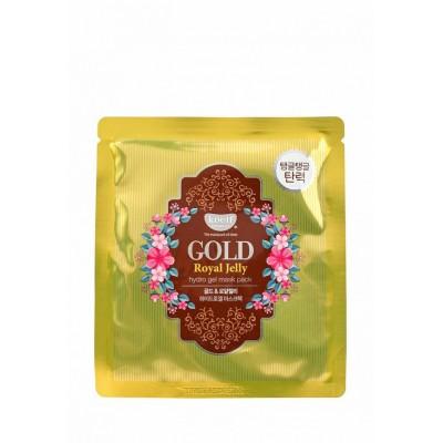 Petitfee Гидрогелевая маска для лица с золотом и маточным молочком Koelf Gold & Royal Jelly Mask