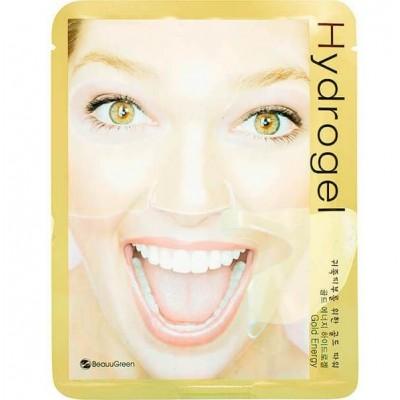 Гидрогелевая маска для лица с коллоидным золотом, против морщин BeauuGreen