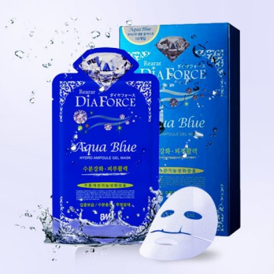 Rearar Маска гидрогелевая DiaForce Aqua Blue Hydro Ampoule Gel mask