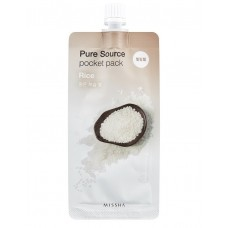 MISSHA Маска для лица экстрактом риса Pure Source Pocket Pack Rice