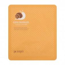 Petitfee Гидрогелевая маска с золотом и улиточным экстрактом Gold & Snail Hydrogel Mask Pack