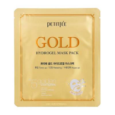 Petitfee Гидрогелевая маска с коллоидным золотом Gold Hydrogel Mask Pack