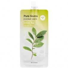 MISSHA Ночная маска с экстрактом зеленого чая Pure Source Pocket Pack Green Tea