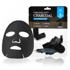 Тканевая маска с древесным углем 3W Clinic Fresh Mask Sheet (23 мл) Charcoal