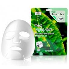 Тканевая маска с зеленым чаем 3W Clinic Fresh Mask Sheet (23 мл) Green Tea 3WCL2114