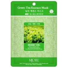 Mijin Essence Mask Маска тканевая для лица (23гр) зеленый чай