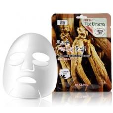 Тканевая маска с красным женьшенем 3W Clinic Fresh Mask Sheet (23 мл) Red Ginseng